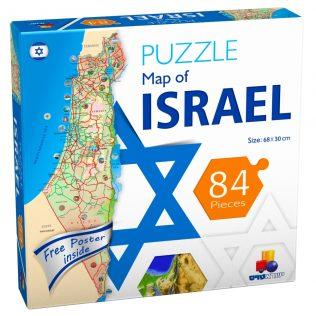 פאזל מפת ישראל – אנגלית