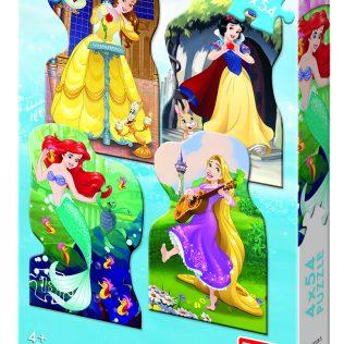 4 פאזלים בקופסה דיסני נסיכות