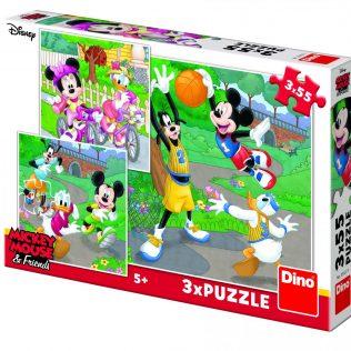 3 פאזלים בקופסה דיסני מיקי מאוס וחברים