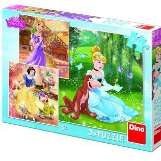 3 פאזלים בקופסה דיסני נסיכות