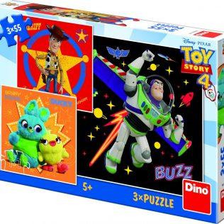 3 פאזלים בקופסה צעצוע של סיפור