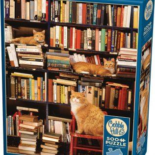 פאזל חתולים וספרים