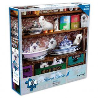 פאזל חתולים במטבח – 1000 חלקים – PLAYVIEW