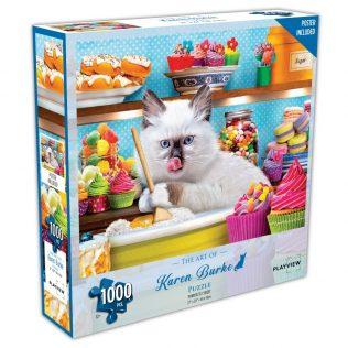 פאזל חתול מתוק – 1000 חלקים – PLAYVIEW