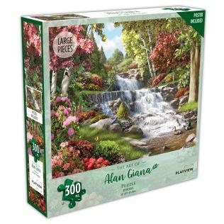 פאזל מפל בטבע – 300 חלקים – PLAYVIEW