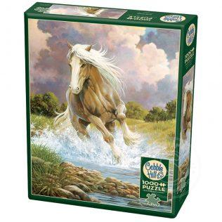 פאזל סוס בנהר